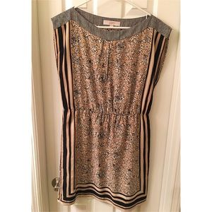 Black and Tan Loft Dress Sz Lg